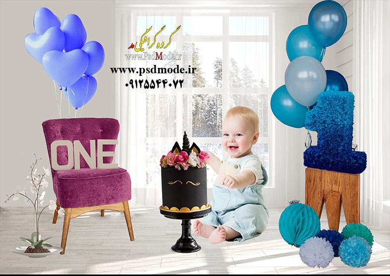 بک گراند تولد کودک psd